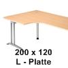 200 x 120 cm L-Form
