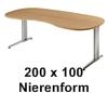 200 x 100 cm Nieren-Form