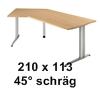 210 x 113 cm 45°-Form