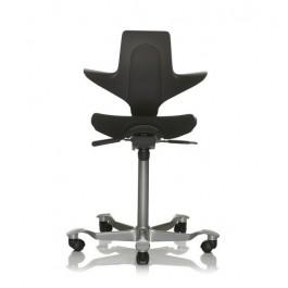 Capisco Puls 8020 schwarz Stoff: Nexus schwarz Sitzflächenmatte