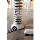 Kabelspirale vertikal silber flexibel