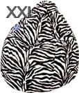 Magma-Heimtex Sitzsack Afro XXL 300 schwarz Zebra