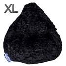 Magma-Heimtex Sitzsack Fluffy XL schwarz